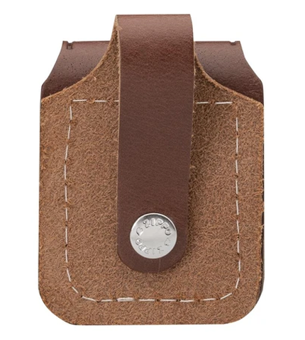 Zippo Brown Lighter Pouch With Loop Back