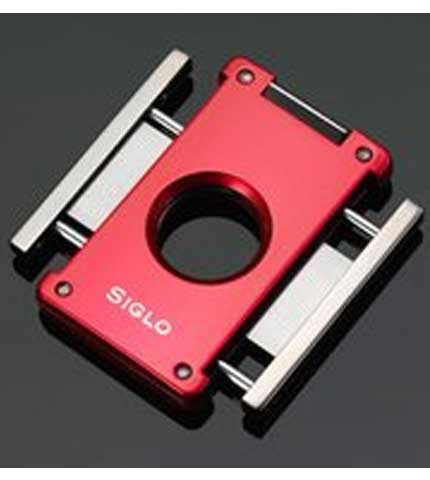 Siglo Switch Blade Cigar Cutter - Red Open