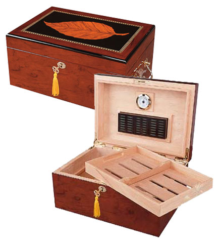 Tobacco Leaf Cigar Humidor