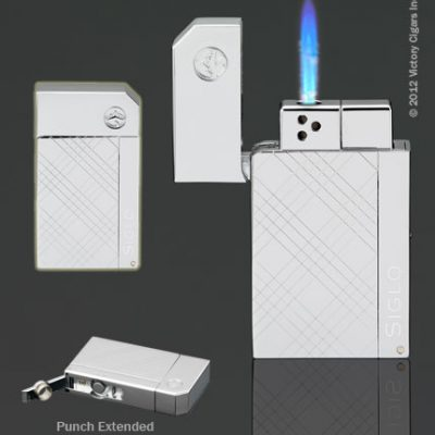 Chrome Series Lighter - Criss Cross