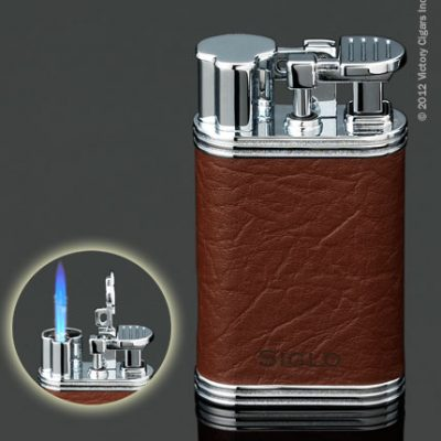 Siglo Retro Lighter - Brown Leather