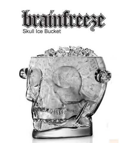 Brain Freeze Skull Ice Bucket