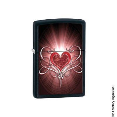 Heart With Filigree, Black Matte 28043