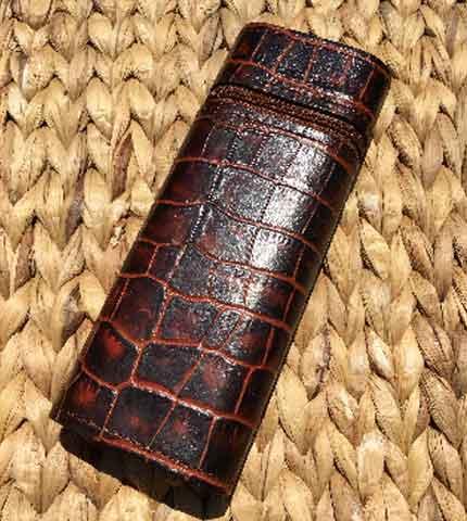 Zippered Churchill Cigar Case