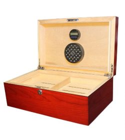 Commander Deluxe Cigar Humidor -Cherry
