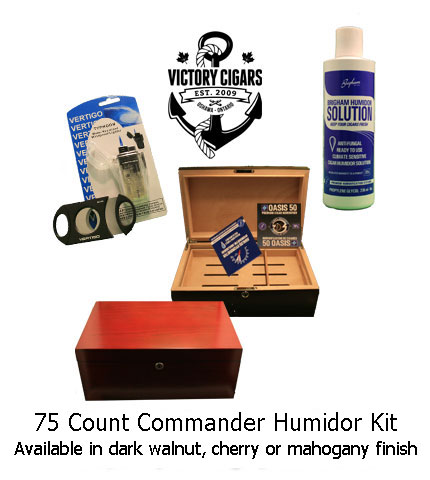 Commander Deluxe Cigar Humidor Kit