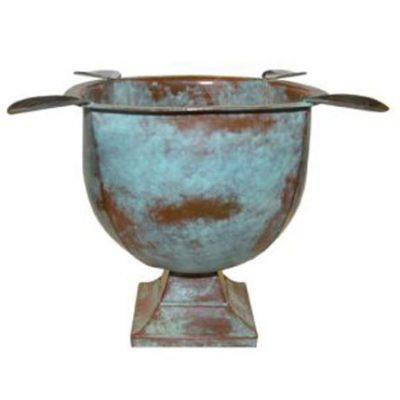 Tabletop Copper Patina Cigar Ashtray