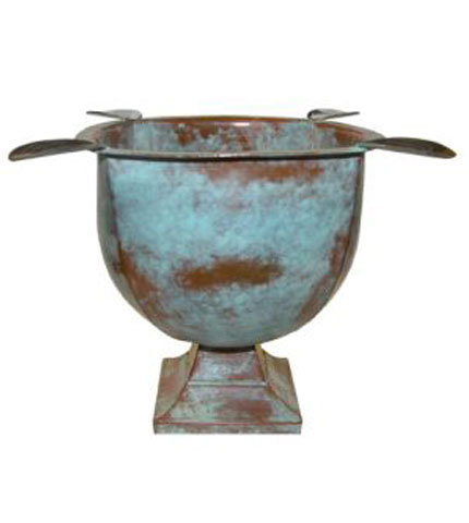 Tabletop Copper Patina Cigar Ashtray