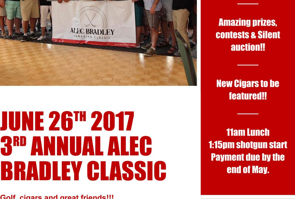 3rd Annual Alec Bradley Classic Golf Tournament