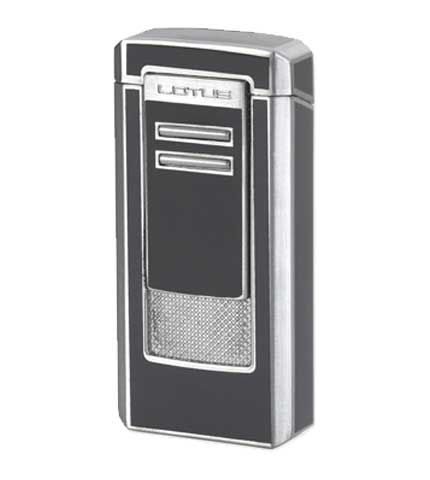 Commander Cigar Lighter Gray Lacquer & Chrome