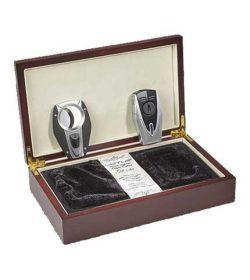 Lotus Fury Cigar Lighter And Cutter Gift Set - Black/Chrome