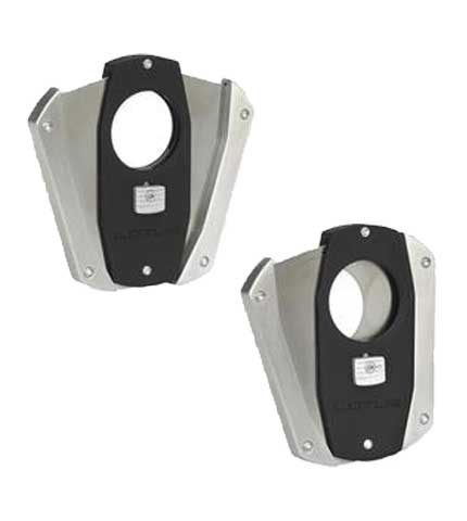 Prestige Cigar Cutter - Black/Chrome Open