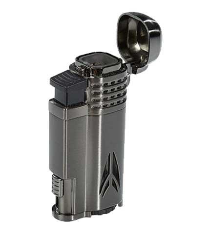 Defiant Cigar Lighter - Gunmetal & Satin - Lid