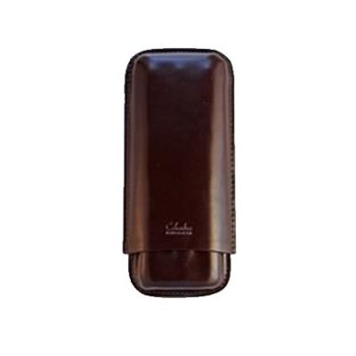 Three Finger Churchill Cigar Case Brown