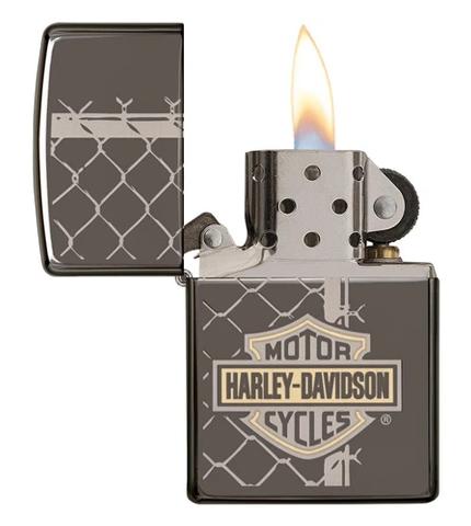 Harley Davidson Zippo Lighter Opened