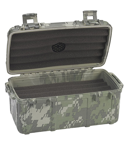 Cigar Caddy Fifteen Count Camouflage Open
