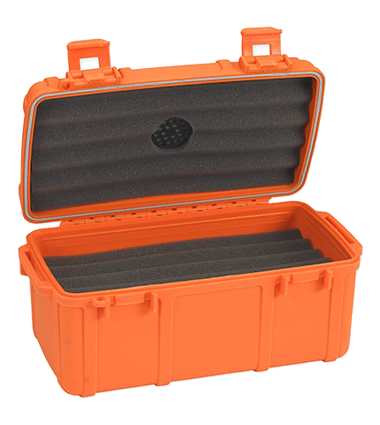 Cigar Caddy Fifteen Count Orange Open