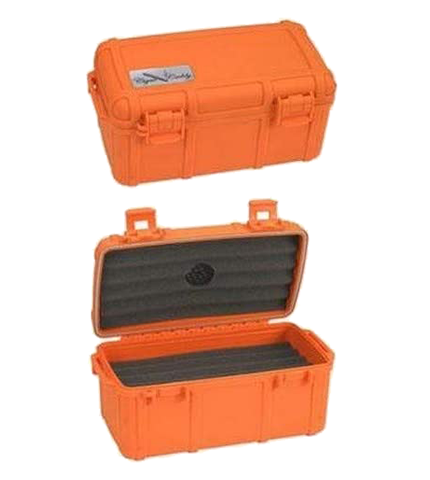 Two Cigar Caddy Fifteen Count Orange
